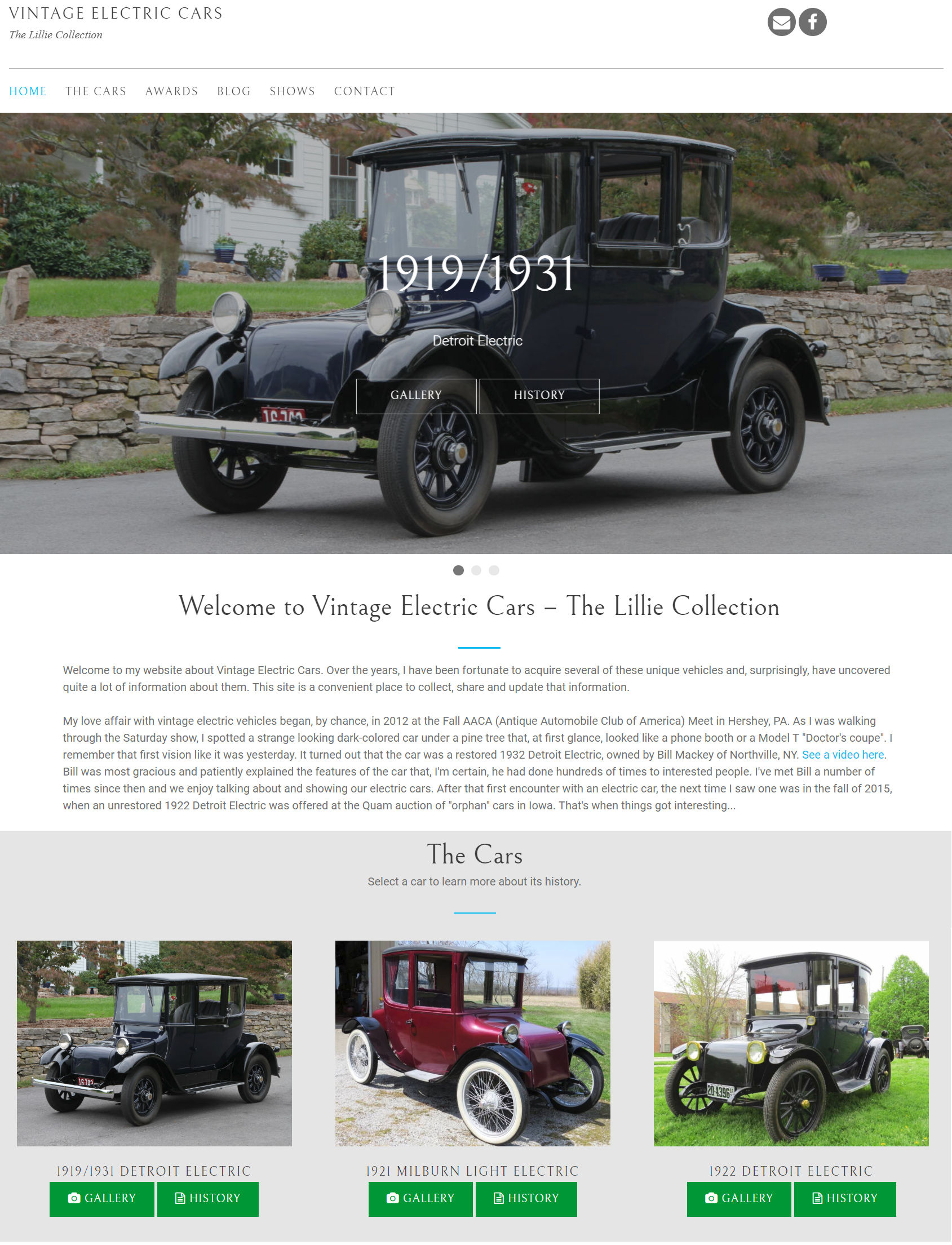 Click to visit Vintage Electric Cars