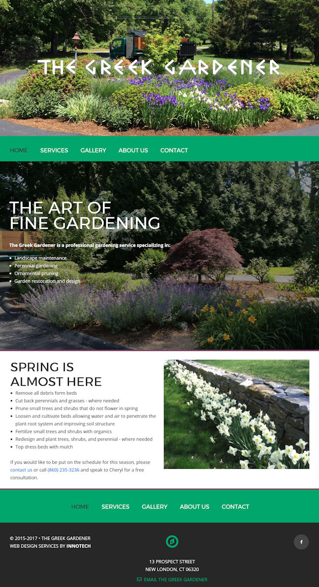 Click to visit The Greek Gardener