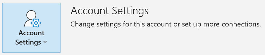 Outlook 365 Account Setting option